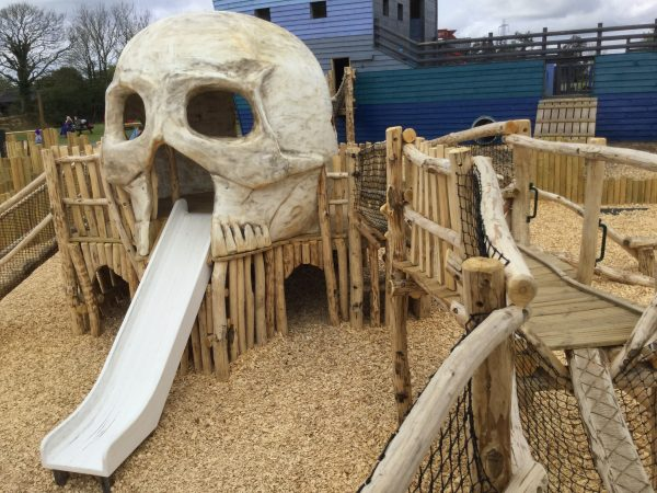 Skull Climbing Frame Folly Farm Pirate Play Area Playground