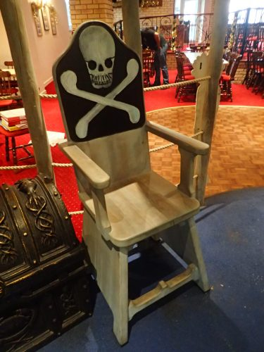 Skull And Crossbones Pirate Themed Seating Chairs For Smugglers Bar And Grill By Flights Of Fantasy E1482244519290