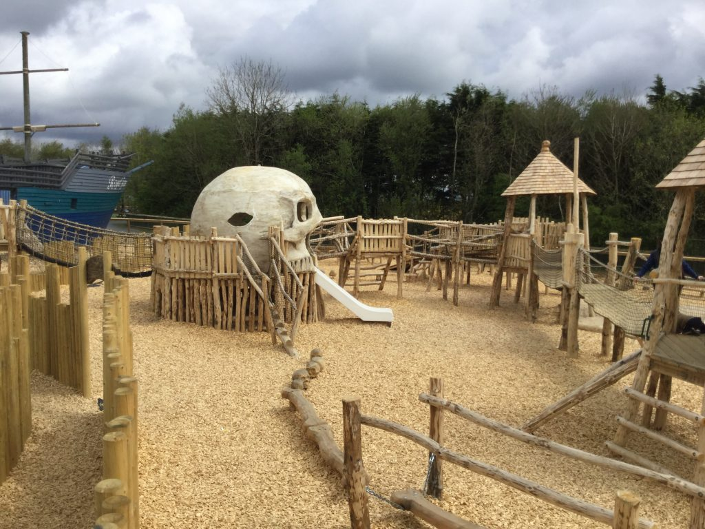 Skull and Ship Folly Farm Pirate Play Area Playground
