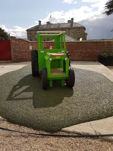 Sledmere House Lime Green Play Tractor 02