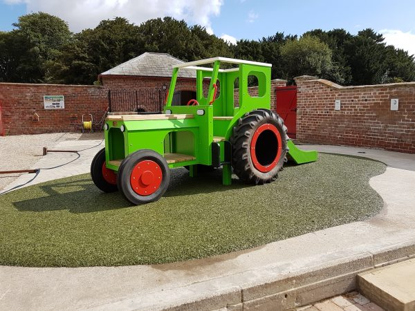 Sledmere House Lime Green Play Tractor 03