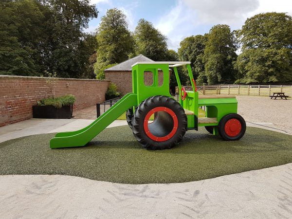 Sledmere House Lime Green Play Tractor 05