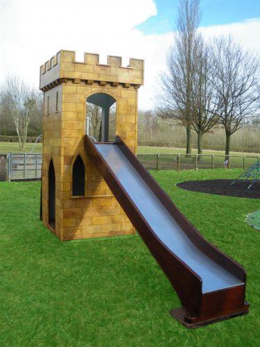 Slide Highnam Green Play Tower Childrens Play Castle