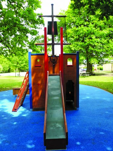 Slide Langton Green School Wooden Pirate Ship Play Area With Disabled Access