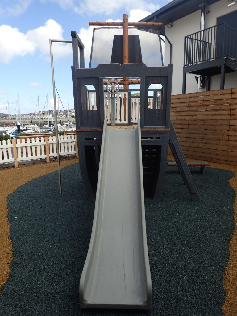 Slide The Mulberry Wooden Pirate Ship Play Area