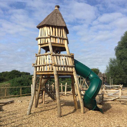 Slide Tower Knockhatch Fort Chestnut Wood Adventure Play Area E1516348735320