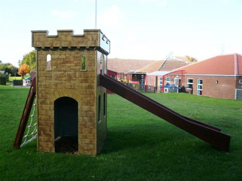 Slide Watton Sure Start Play Tower Childrens Play Castle