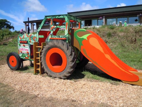Slide And Climb Through Wheel South Devon Chilli Farm Hand Made Play Tractor