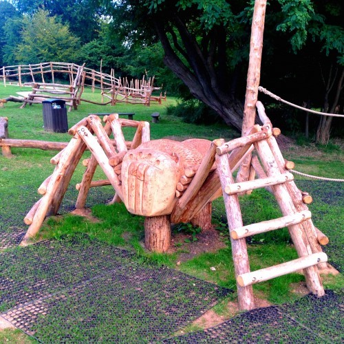 Spider Climb - Farnham Park Rustic Outdoor Play Area 10