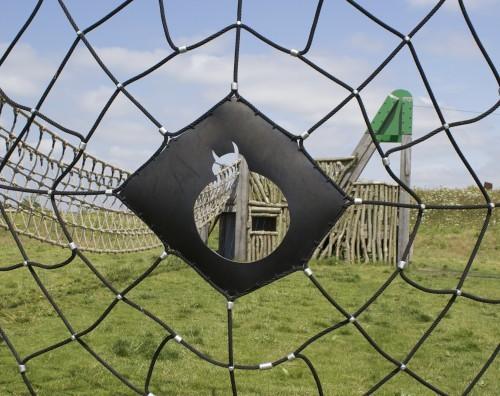 Spider Web Climb Net Abberton Reservoir Childrens Outdoor Play Area By Flights Of Fantasy
