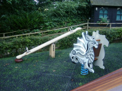 Springy And See Saw Croft Castle Childrens Outdoor Play Area And Wooden Castle 1