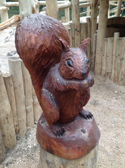 Squirrel Mounted Sculpture Wooden Carving By Flights Of Fantasy