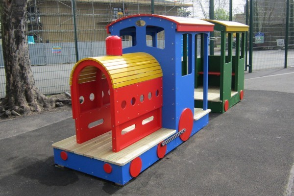 St Marys School Wooden Train 1