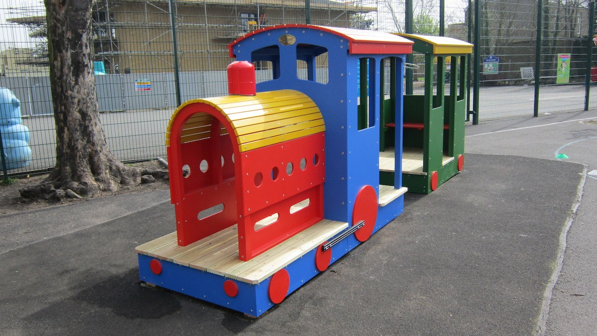 St Mary's School Wooden Train 1