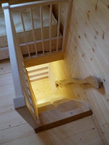 Staircase Pinewood Hideaway Custom Built Bespoke Treehouse Playhouse