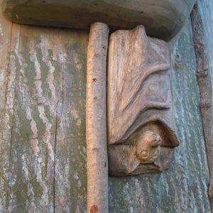 Subtle Bat Wooden Carving Sculpture By Flights Of Fantasy