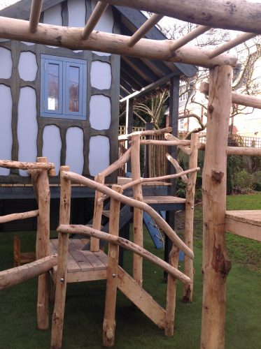 Swing Bars The Secret Garden Rustic Play Area For Private Client By Flights Of Fantasy
