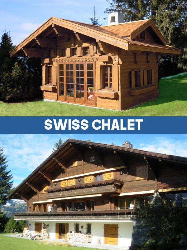 Swiss Chalet Miniature Replica Playhouse Play Area