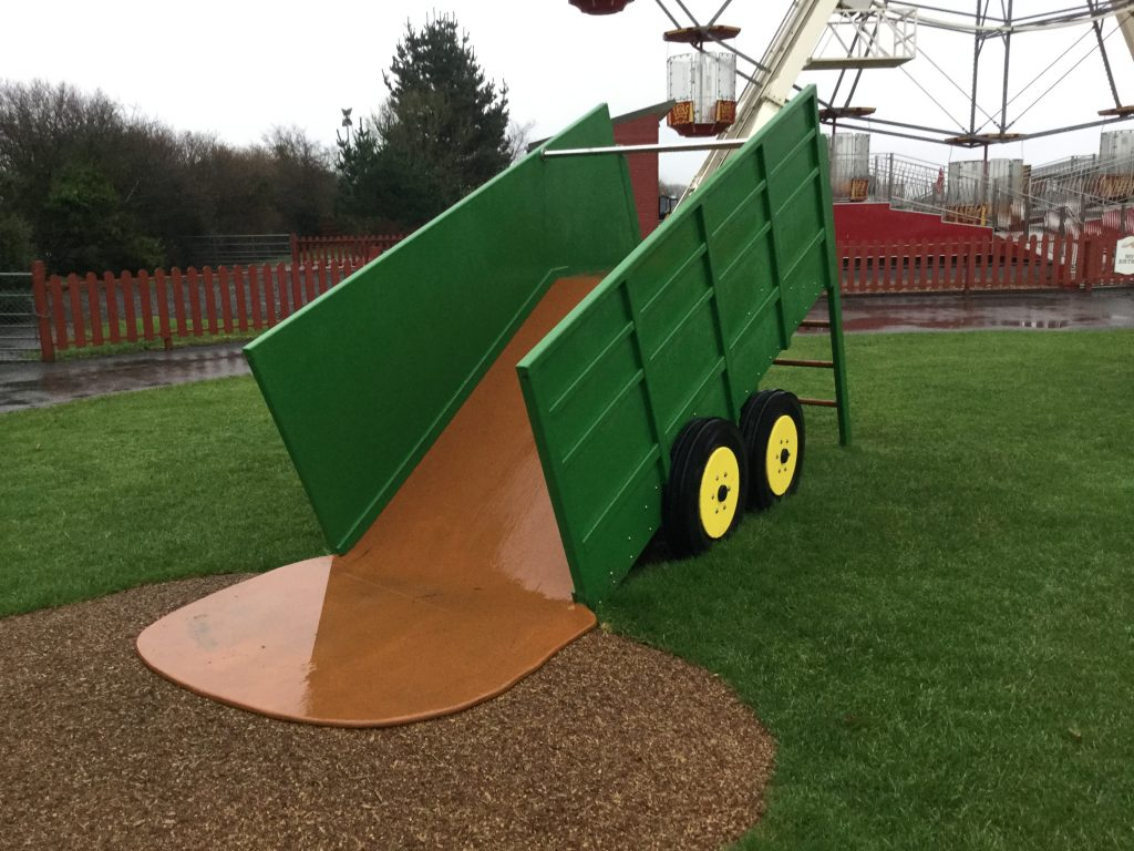 Tipping Trailer Slide Folly Farm Play Machines