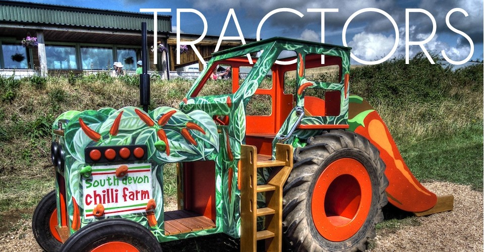 Wooden Play Tractors