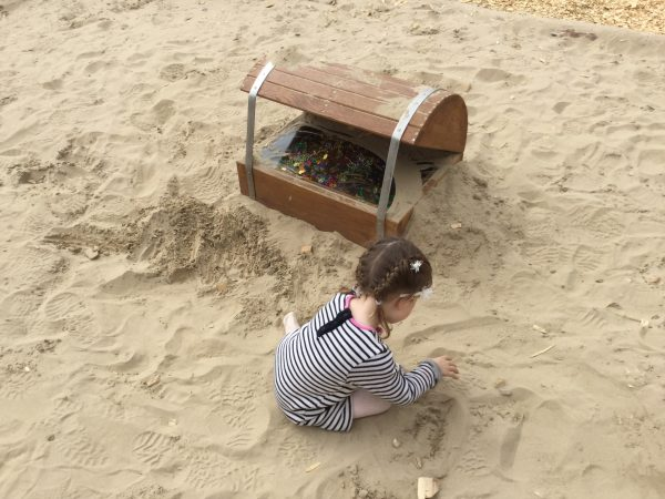 Treasure Chest Sand Pit Folly Farm Pirate Play Area Playground