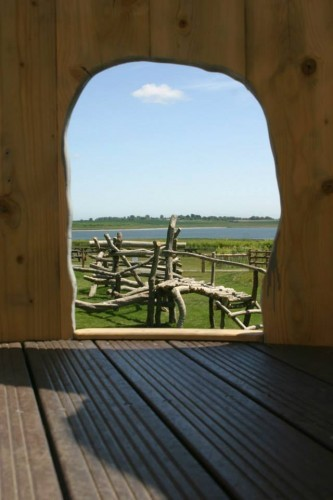 View Out From Inside Abberton Reservoir Childrens Outdoor Play Area By Flights Of Fantasy