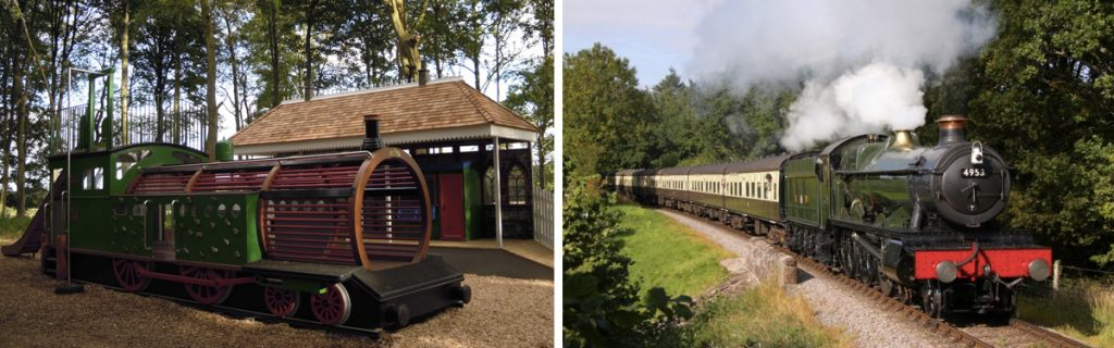 Wallington Hall Station & Locomotive Replica Play Train
