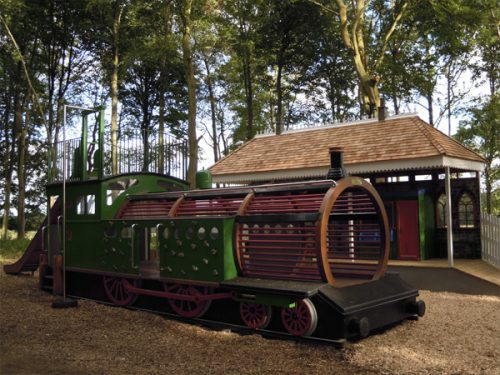 Wallington Hall Station and Locomotive Themed Forest Play Area