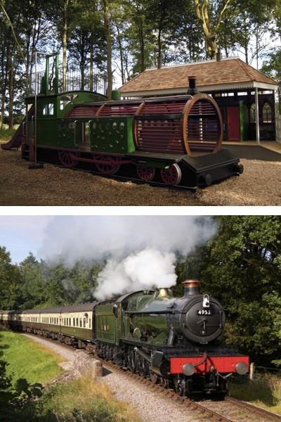 Wallington Locomotive Replica Play Area And Original