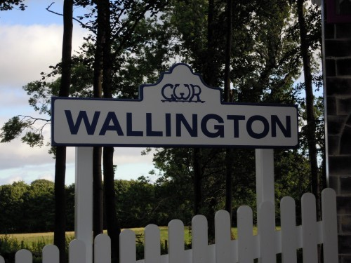 Wallington Sign Childrens Play Area Replica Gwr Steam Train And Station At Wallington Hall