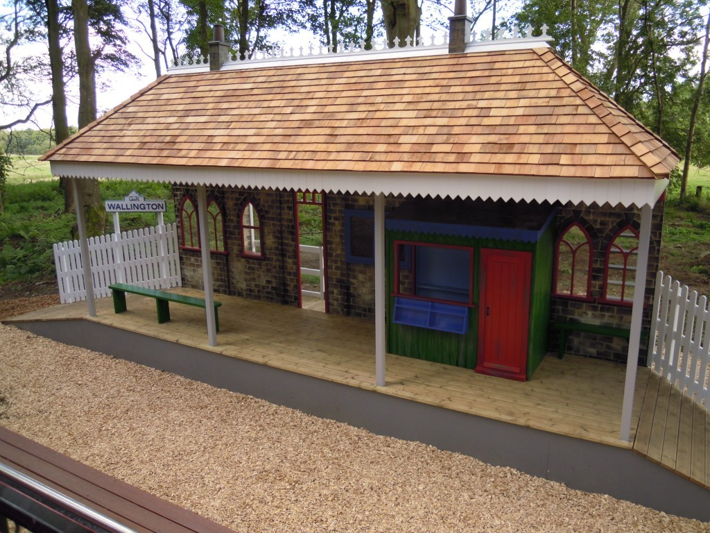Wallington Station From Above Childrens Play Area Replica Gwr Steam Train And Station At Wallington Hall