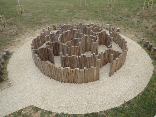 Weathering Down Westmorland Gloucester Services M5 Outdoor Play Area Maze Labyrinth