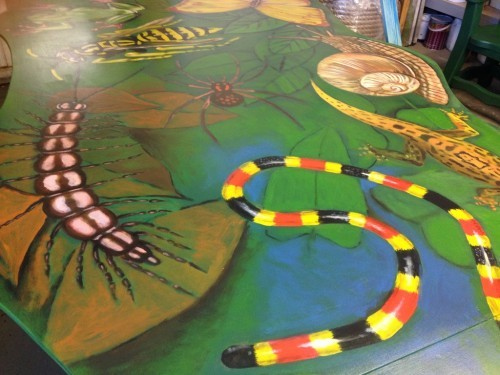 Wildlife Painted Table For Bristol Zoo
