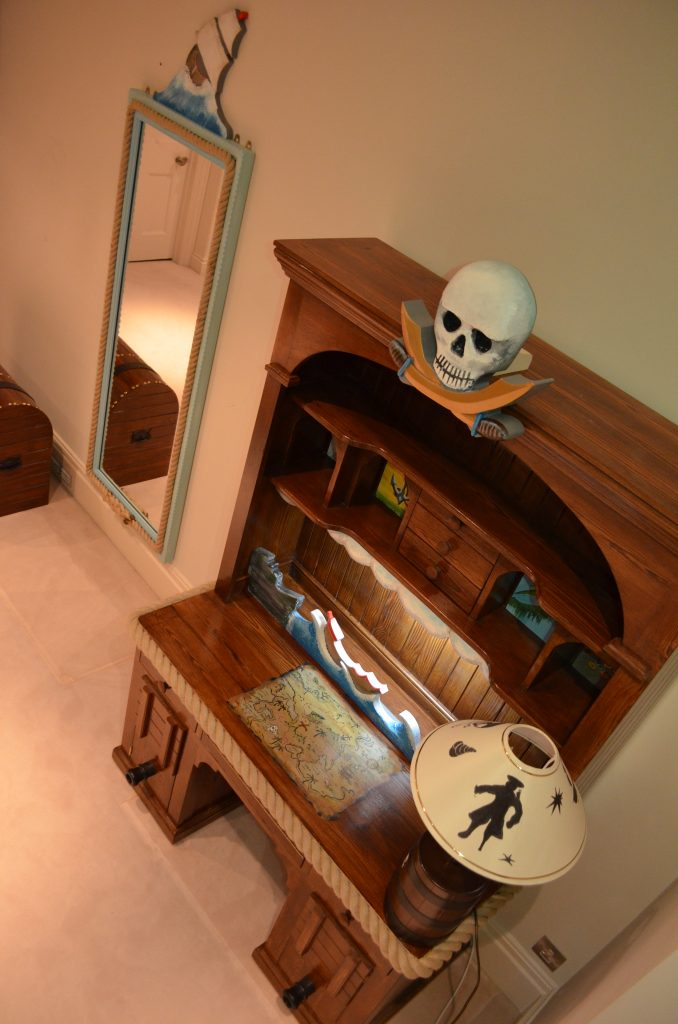Writing Desk Childrens Themed Pirate Bedroom Interior 2