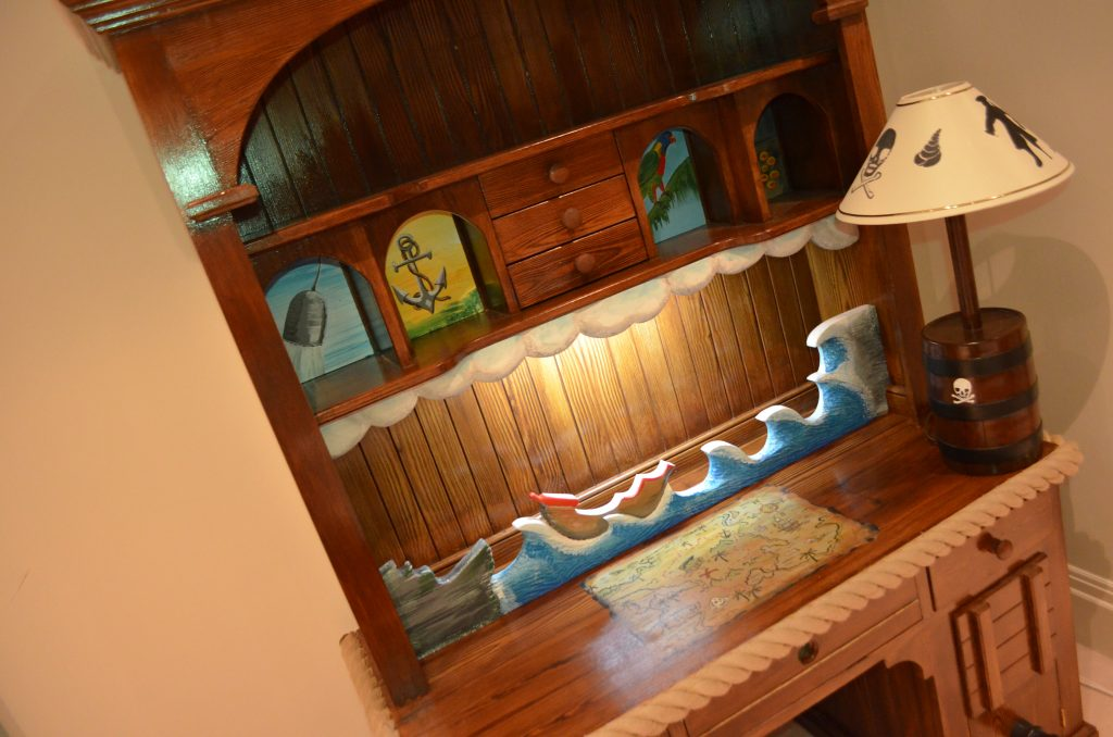 Writing Desk Close Up Childrens Pirate Bedroom Themed Interior 2