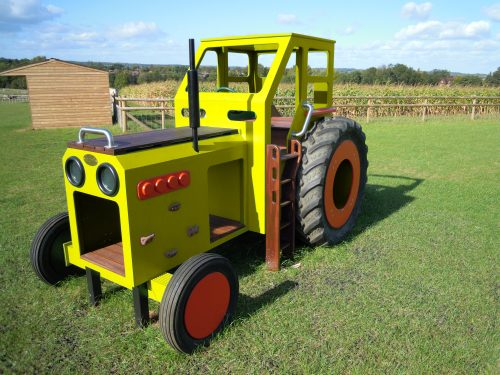 Yellow Private Play Tractor
