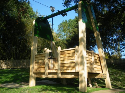 Zip Line Empty Hatfield House National Trust Childrens Outdoor Wooden Play Area Replica By Flights Of Fantasy 1