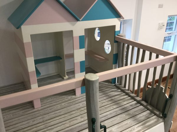 beach huts at little kings indoor play area