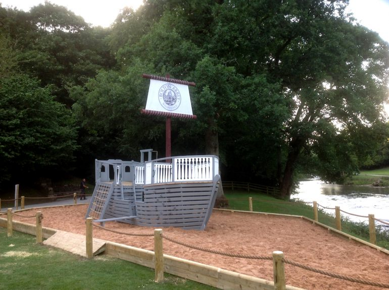 bolton abbey wharfdale pirate ship front