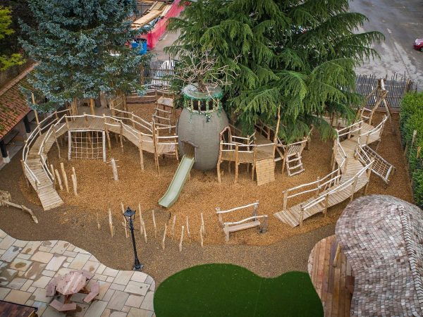 ffolkes arms hotel adventure playground aerial