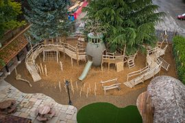 ffolkes arms hotel adventure playground aerial view