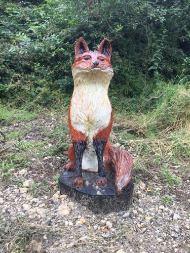 fox carving face