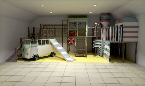 front plans for little kings holiday park indoor play area