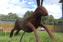 giant hare sculpture