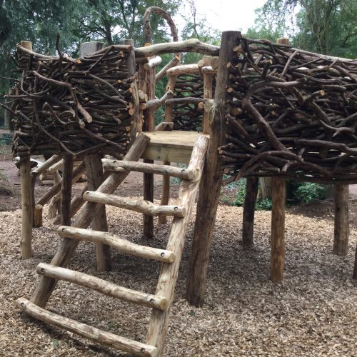 ladder to herons nest play area
