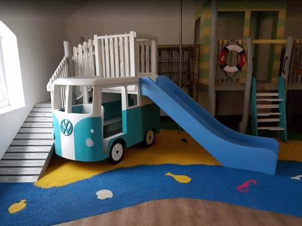 left hand side of little kings indoor play area