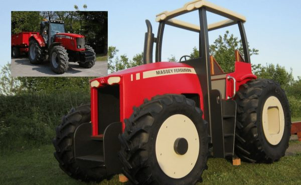 massey ferguson tractor miniature play replica