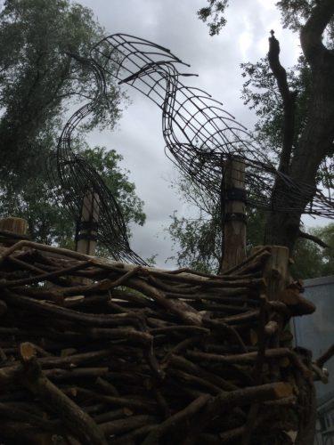 metal herons rushden lakes play area