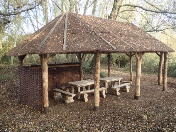 picnic bench shelter