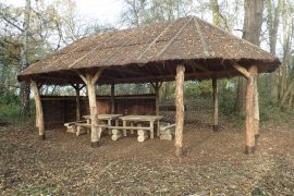 picnic benches and shelter